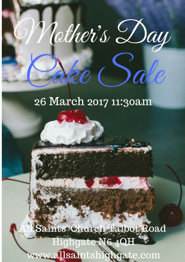 Mother's day cake sale